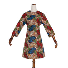 Load image into Gallery viewer, Nigerian Flute Dress With Matching Headscarf and Mask
