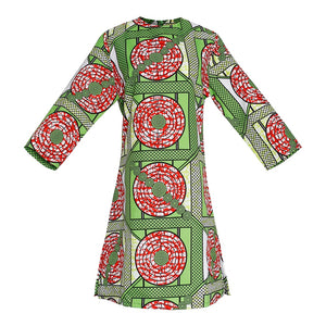 Nigerian Flute Dress With Matching Headscarf and Mask