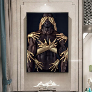 Embrace Black Gold Museum Gallery Canvas Poster