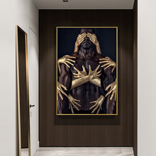Load image into Gallery viewer, Embrace Black Gold Museum Gallery Canvas Poster
