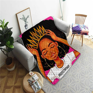 #Respect My Hair Throw Blanket or Pillow Cases
