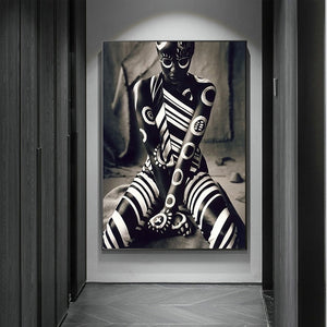 Warrior Pose Canvas Poster