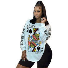 Load image into Gallery viewer, Black Queen of Spades Sweatshirt