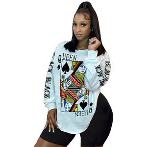 Black Queen of Spades Sweatshirt