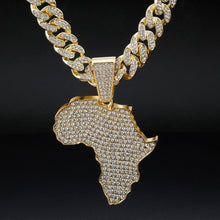 Load image into Gallery viewer, 24K Bigger and Better Africa Gold or .925 Silver Plated Chain