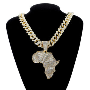 24K Bigger and Better Africa Gold or .925 Silver Plated Chain