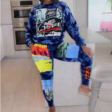 Load image into Gallery viewer, Camo Poetic Justice Street Romance Tracksuit