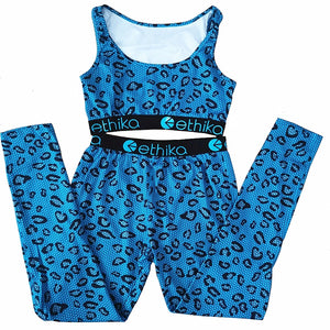 Ethika Mid-Waist 2021 Blue Leopard Exclusive Sports Fit Track Set