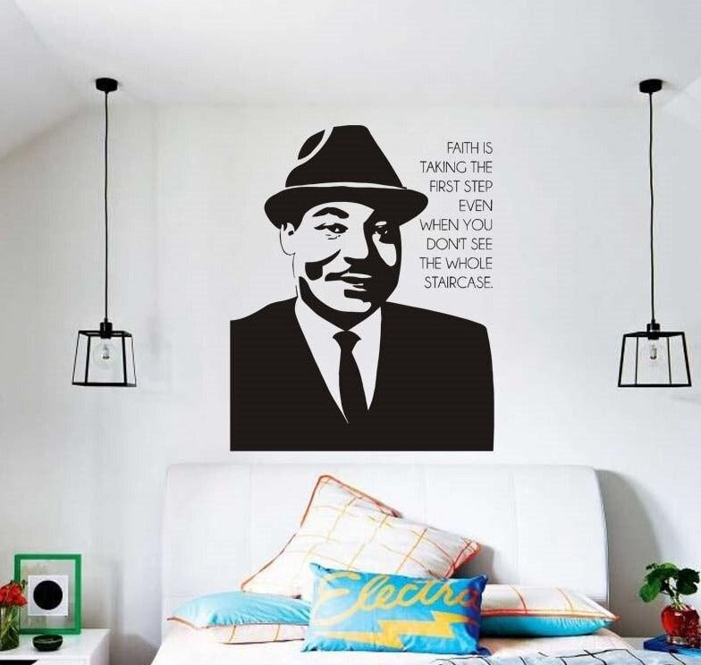 MLK Faith in Work Wall Vinyl