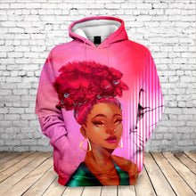 Load image into Gallery viewer, Pink Rose Goddess Tribute Hoodie
