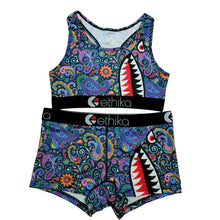 Load image into Gallery viewer, Melanin Mosaic Shark Exclusive Sports Fit Set