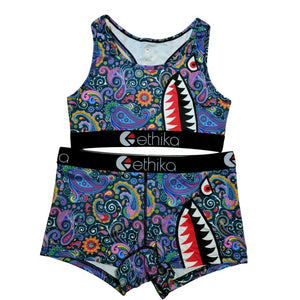 Melanin Mosaic Shark Exclusive Sports Fit Set