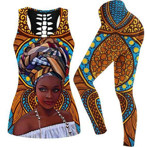 Afrocentric Queen Grounded But Beastly Sports Fit Set