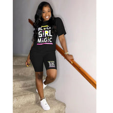 Load image into Gallery viewer, 2021 #BlackGirlMagic Summer Shorts Set