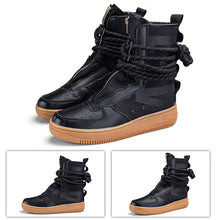 Load image into Gallery viewer, Air Strapped Zip-Up Super High-Top Sneaker Boots