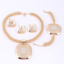 Load image into Gallery viewer, 18K Pharoah Amulet Egyptian Gold Plated Jewelry Set