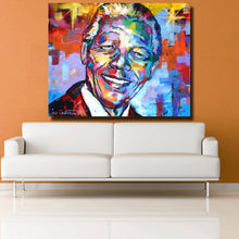 Load image into Gallery viewer, Nelson Mandela Unframed Canvas Poster