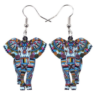 Picasso Acrylic Tusk Earrings