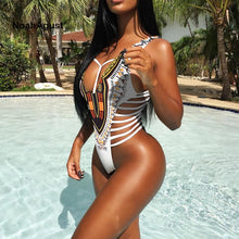 Load image into Gallery viewer, Afro-Brazilian Cut One Piece Monokini