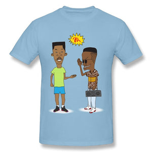 Beavis and Butthead Reimagined as Fresh Prince and Jazzy Jeff Tshirt