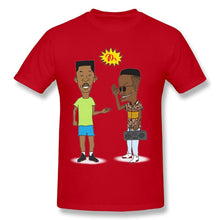 Load image into Gallery viewer, Beavis and Butthead Reimagined as Fresh Prince and Jazzy Jeff Tshirt