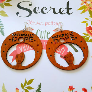 Naturally Dope Wood Earrings