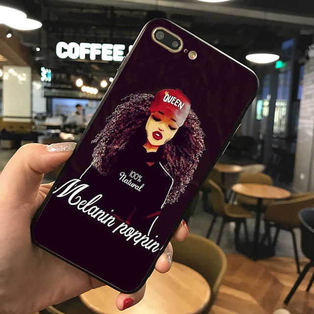 #MelaninPoppin Phone Case For Iphone 7 8 XS XR XSMAX and Samsungs7 s8 s9