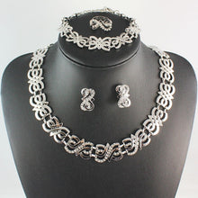 Load image into Gallery viewer, Formal/Wedding Jewelry set (Gold or Silver Plated)