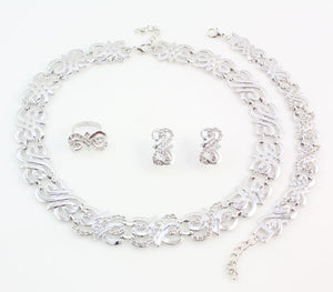 Formal/Wedding Jewelry set (Gold or Silver Plated)