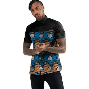 Ankara Short Sleeve Royalty Fashion Shirt (check description for sizing)