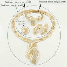 Load image into Gallery viewer, 18K African Gold Plated Bridal Jewelry Set (free matching Ring)
