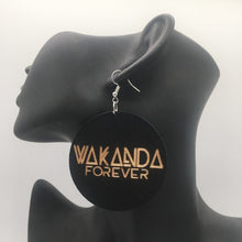 Load image into Gallery viewer, Wakanda Forever Drop Earrings