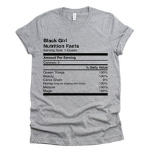 Load image into Gallery viewer, Black Girl Nutrition T-shirt