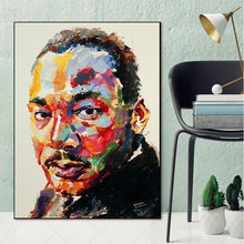 Load image into Gallery viewer, MLK Jr Canvas Contemporary Unframed Poster