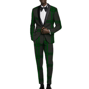 Dapper Ankara Prince Suit (Order 2 sizes larger than usual)