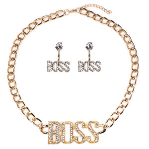 Boss Chick Jewelry set (Gold or Silver Plated)