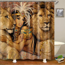 Load image into Gallery viewer, Lion Queen Shower Curtain