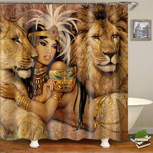 Lion Queen Shower Curtain