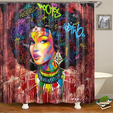 Load image into Gallery viewer, Afro Queen Shower Curtain