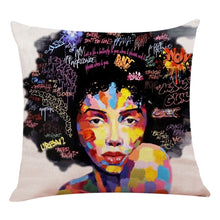 Load image into Gallery viewer, Graffiti Fro Custom Artist Pillow Case