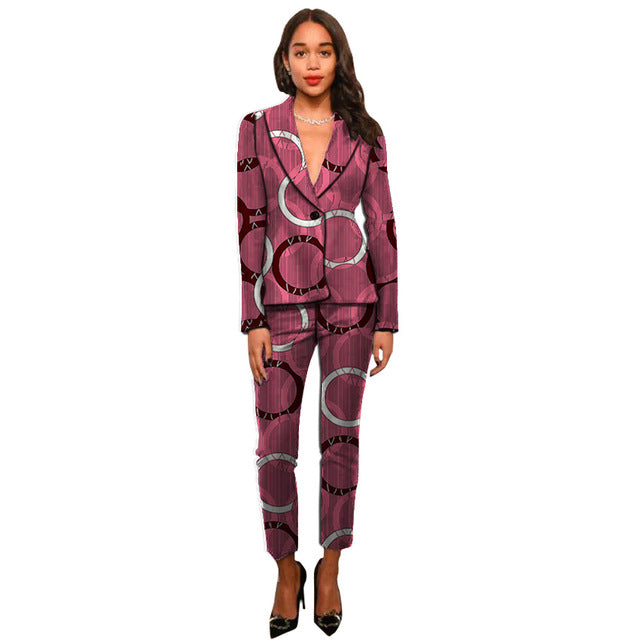 African Blossom Professional Conference Business Suit