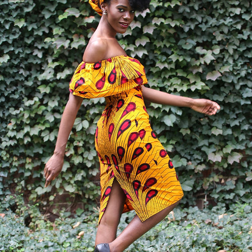 African Princess Flirt Dress with Matching Headwrap