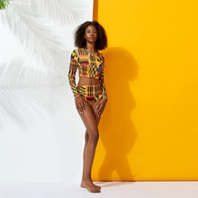 Load image into Gallery viewer, Fashion #BlackTravelMovement Dashiki Travel Swimwear