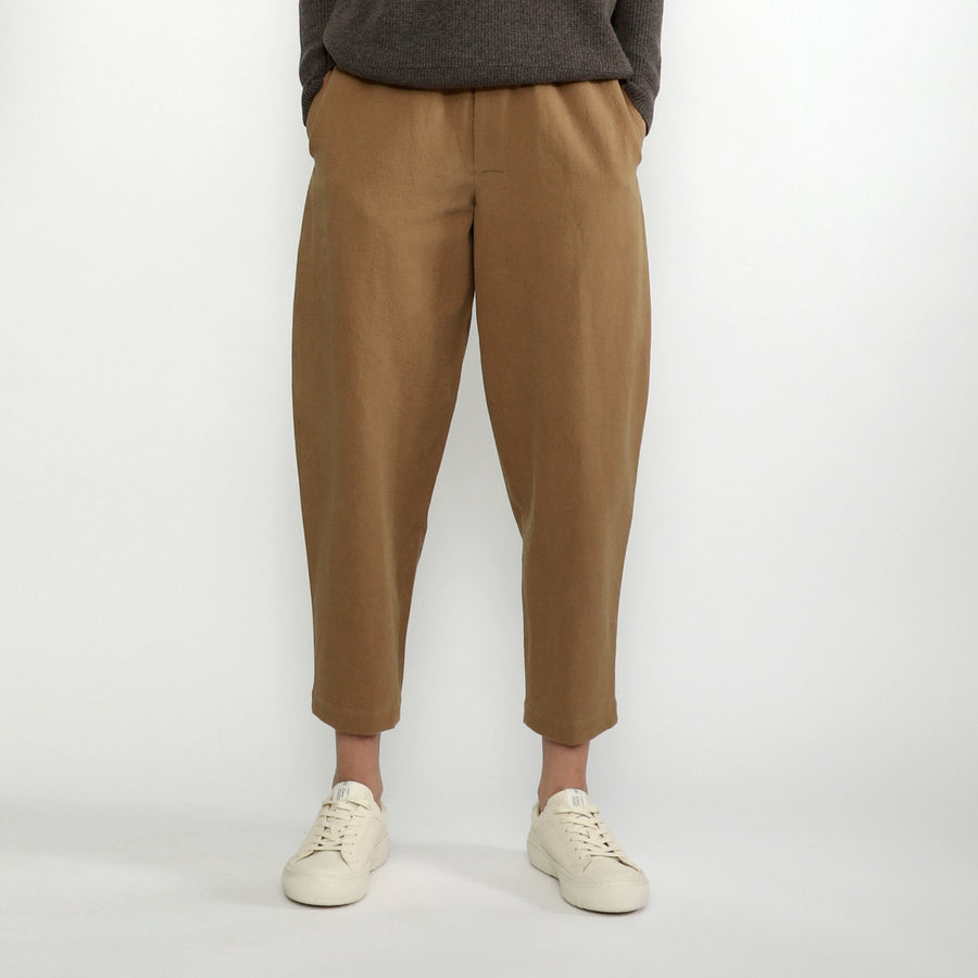 Elastic Pull-Up Trouser - Linen - FW20 - Mens