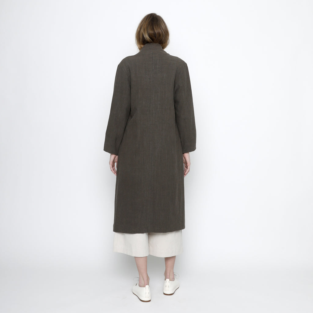 Signature Open Fall Coat - Olive