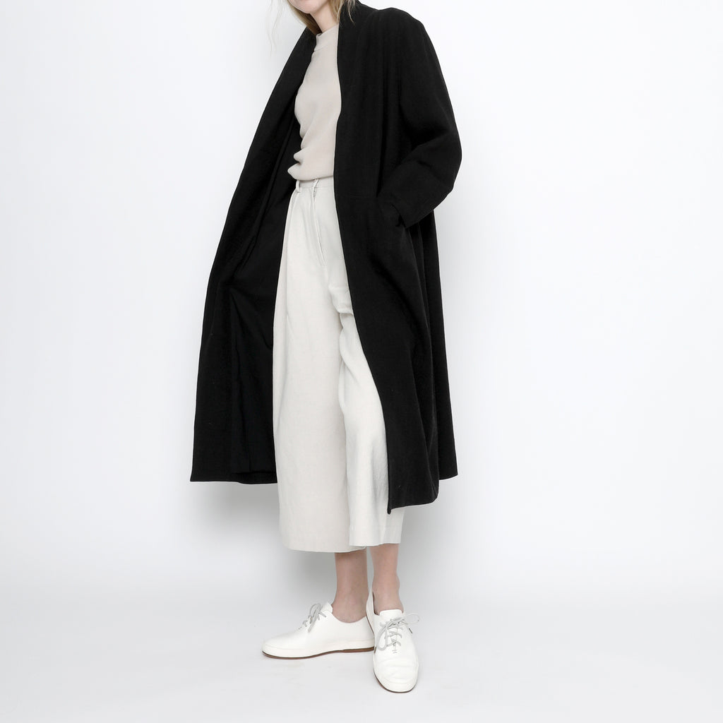 Signature Open Fall Coat - Black