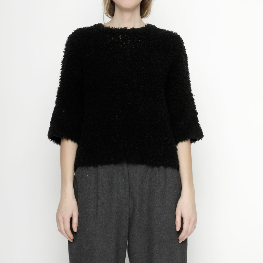 Merino Curly Mid-Sleeves - FW20 - Black