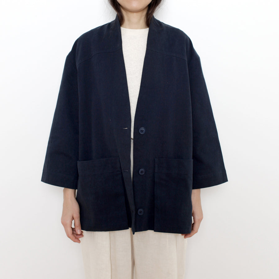 Pockets Short Coat - Unisex - SS21 - Navy