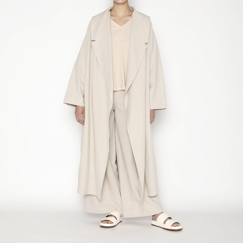 Spring Lapel Overcoat SS20 - Oatmeal