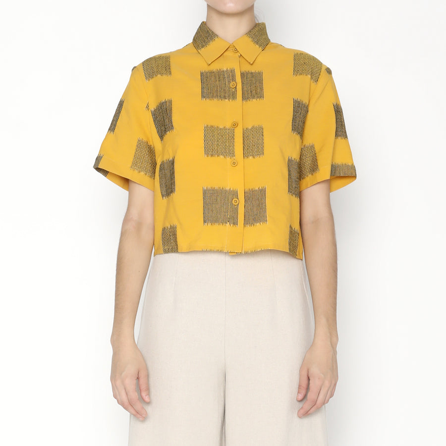 Cropped Button Down - Square SS20 - Canary